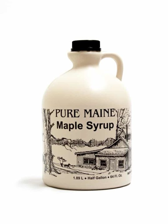 maine maple syrup half gallon